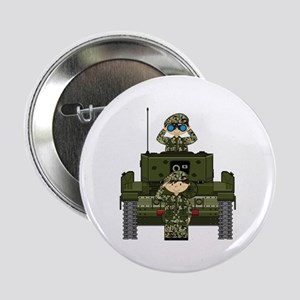 "Army Soldiers and Tank 2.25"" Button"